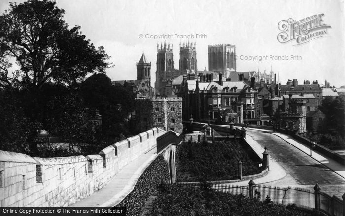 Photo of York, View From City Walls c.1880