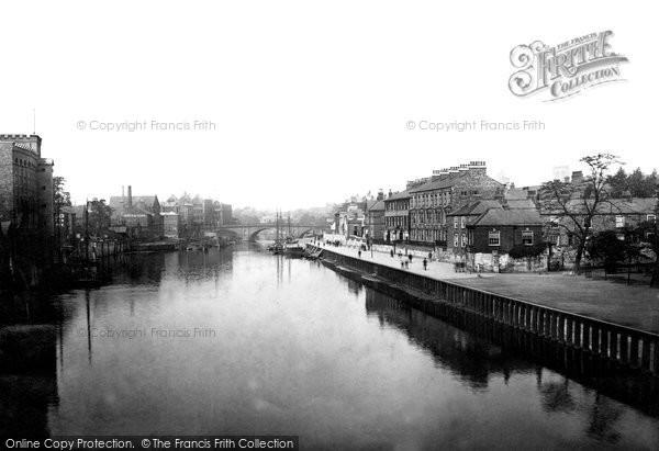 Photo of York, View From Skeldergate Bridge c.1885