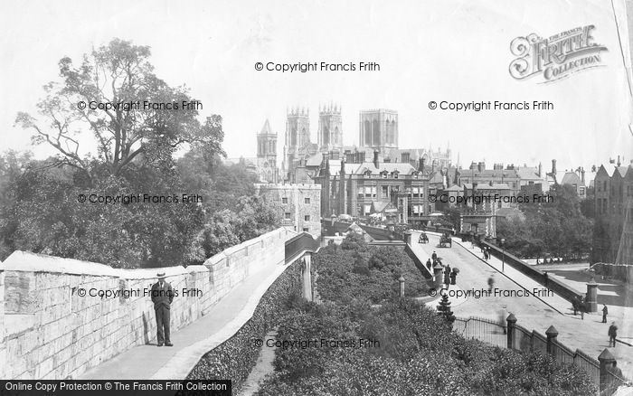 Photo of York, View From The City Walls 1897