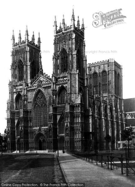 Photo of York, York Minster, West Front 1891