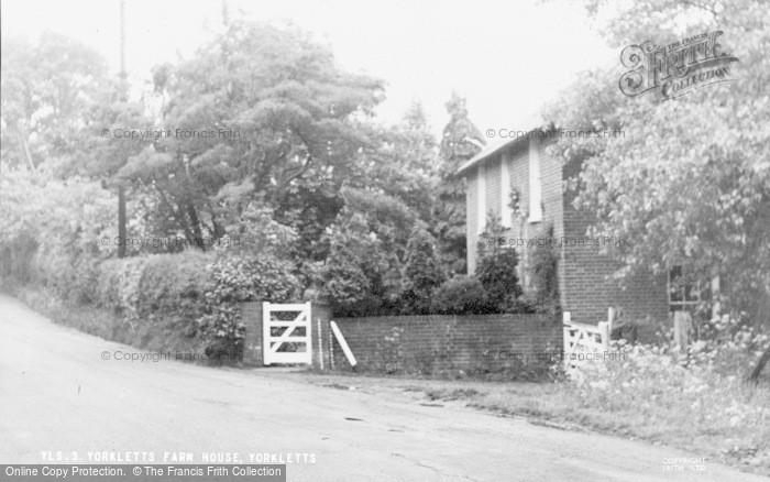 Photo of Yorkletts, Yorkletts Farm House c.1960