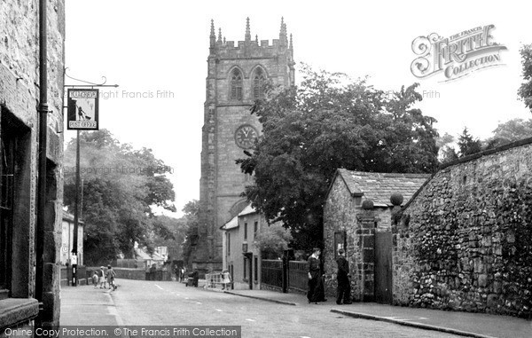 Photo of Youlgreave, Church Street And All Saints Church c.1955