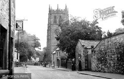 Youlgreave, Church Street And All Saints Church c.1955
