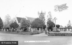 The Parish Church c.1955, Yoxall