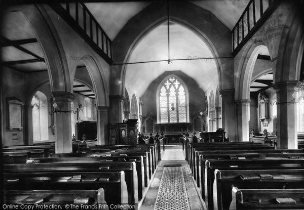 Photo of Yoxford, Church Interior 1909