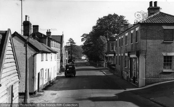Photo of Yoxford, Main Road c.1965