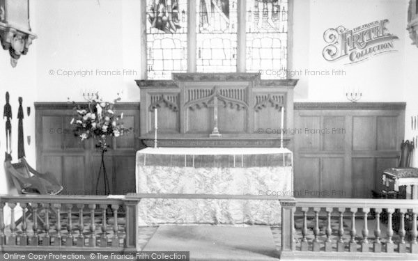 Photo of Yoxford, St Peter's Church, Altar And Brasses c.1965