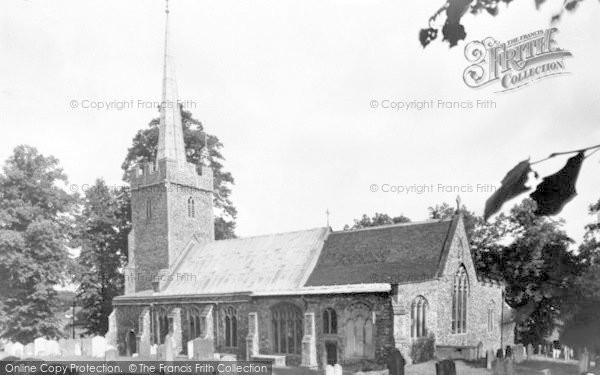 Photo of Yoxford, St Peter's Church c.1955