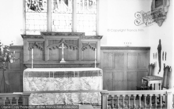 Photo of Yoxford, St Peter's Church, High Altar c.1965