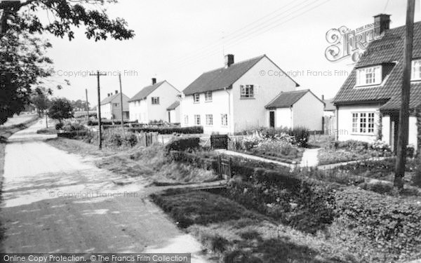 Photo of Yoxford, Strickland Manor Hill c.1960