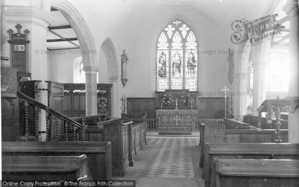 Photo of Yoxford, The Church Interior c.1965