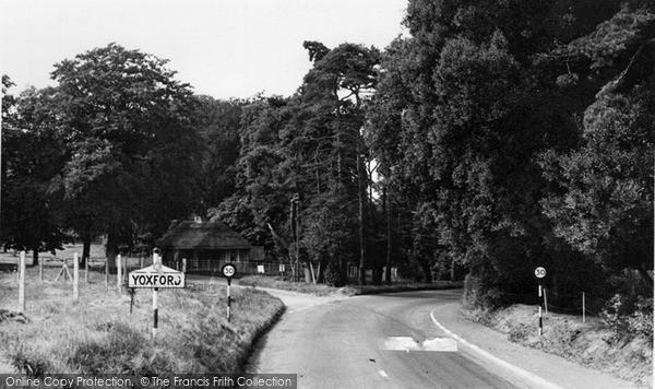Photo of Yoxford, The Village c.1955