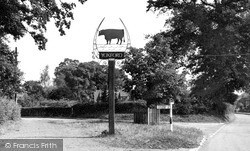 Yoxford, The Village Sign c.1955