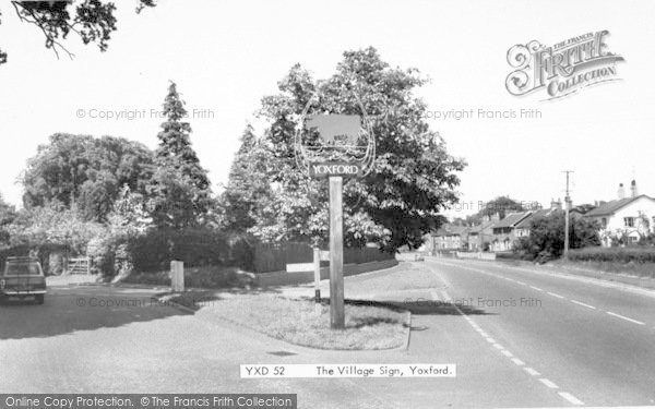 Photo of Yoxford, The Village Sign c.1965