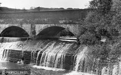 Canal And Waterfall c.1955, Ystalyfera