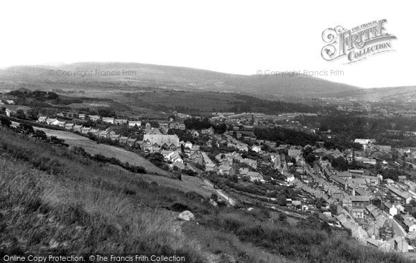 Photo of Ystalyfera, View From Craig Y Merched c.1955