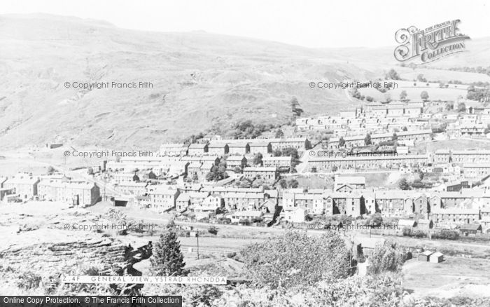 Photo of Ystrad, General View c.1955