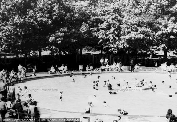 Photo of Ystrad, The Paddling Pool c.1960