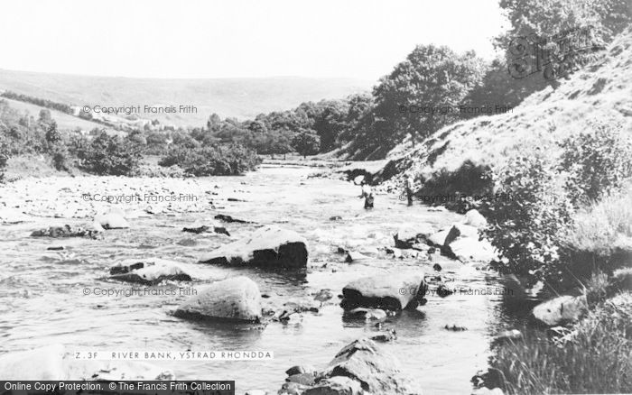 Photo of Ystrad, The River Bank c.1955