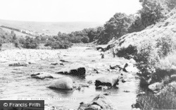 Ystrad, The River Bank c.1955