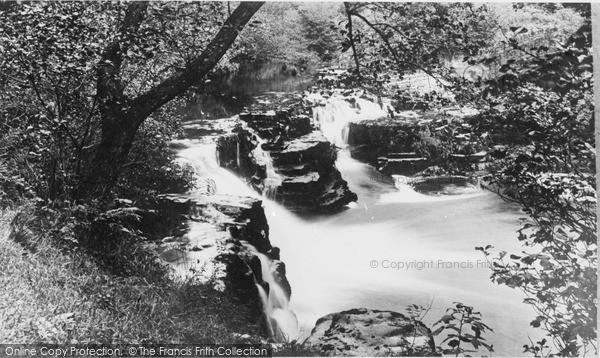 Photo of Ystradfellte, The Crooked Falls c.1955