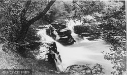 Ystradfellte, The Crooked Falls c.1955