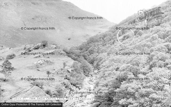 Photo of Ystradffin, Twm Siôn Cati's Cave c.1960
