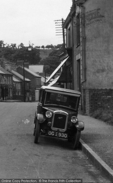 Photo of Ystradgynlais, Austin 7 Car In Commercial Street 1937