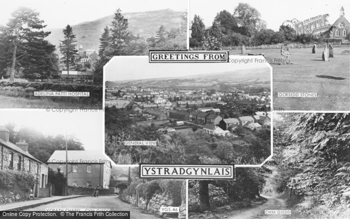 Photo of Ystradgynlais, Composite c.1955