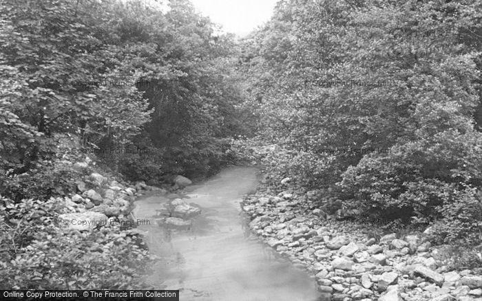 Photo of Ystradgynlais, River Giedd c.1955