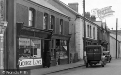 Ystradgynlais, Shops In Commercial Street 1937