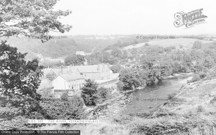 Photo of Ystradgynlais, The River c.1955