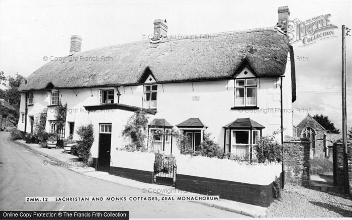 Photo of Zeal Monachorum, Sachristan And Monks Cottages c.1955