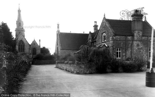 Photo of Zeals, The School And St Martin's Church c.1955