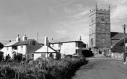 Zennor, Church and Tinners Arms c1955