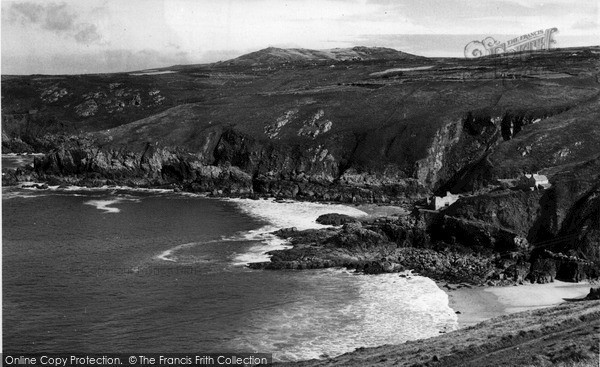 Photo of Zennor, The Coast From Gurnards Head c.1955