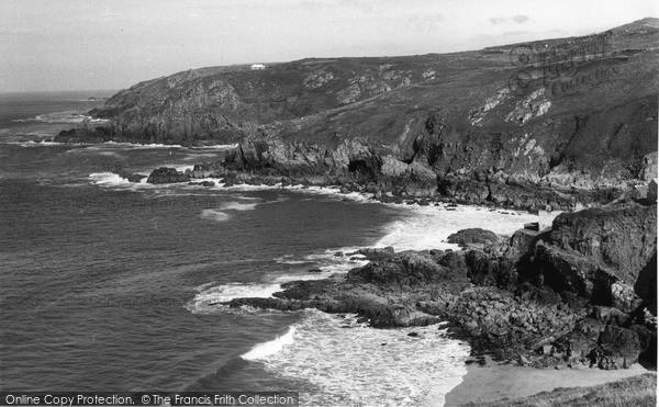 Zennor, the Coast from Gurnards Head c1955