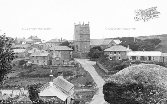 Photo of Zennor, The Village And St Senara's Church 1928