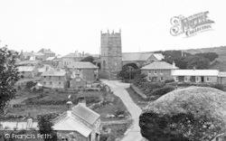 Zennor, The Village And St Senara's Church 1928