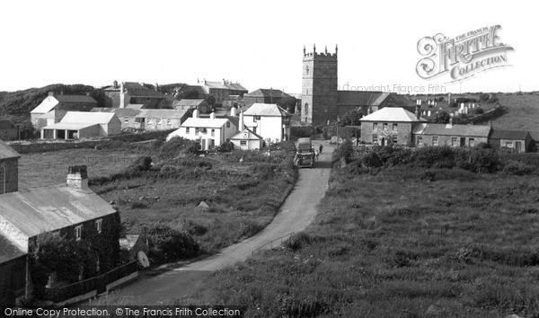 Photo of Zennor, Village c.1955