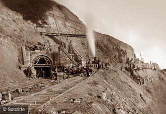 Kettleness, Building Kettleness Tunnel c1880