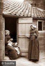 Lealholm, Women Winding Wool c1880