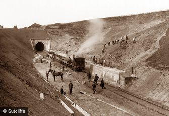 Whitby, Building Railway c1880