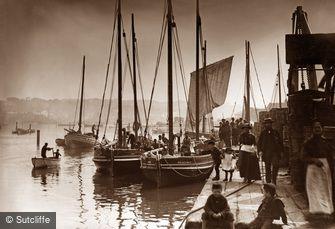 Whitby, Cornish Boats c1880