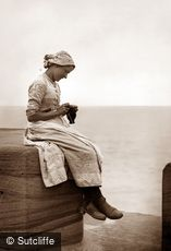 Whitby, Fishergirl Knitting c1880
