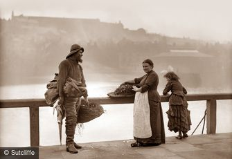 Whitby, Fishing Family c1880