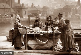 Whitby, Fishstall c1880