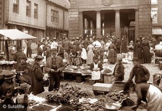 Whitby, Market Place c1880