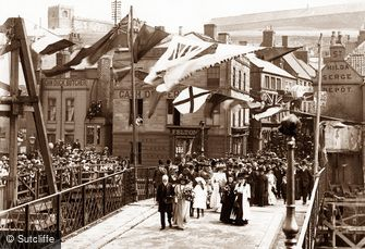 Whitby, Opening of Whitby Swing Bridge 1909