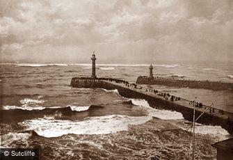 Whitby, Rough Seas c1880